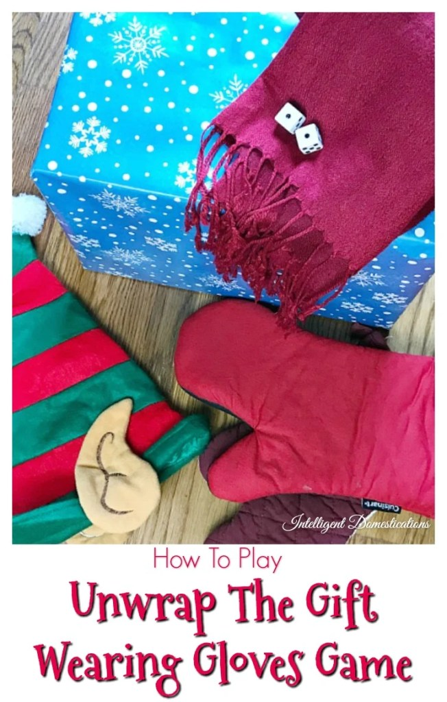 How To Play The Unwrap The Gift Wearing Gloves Game. Unwrap the Gift Game. How to play unwrap the gift game. Christmas party game ideas. Family Friendly games