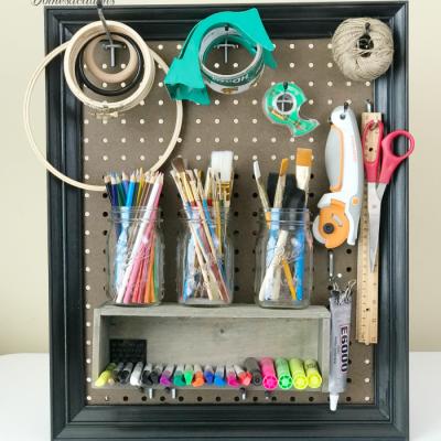 How I Made A Framed Peg Board