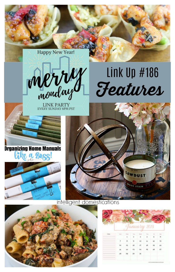Merry Monday Link Up Party #186 Feature Picks