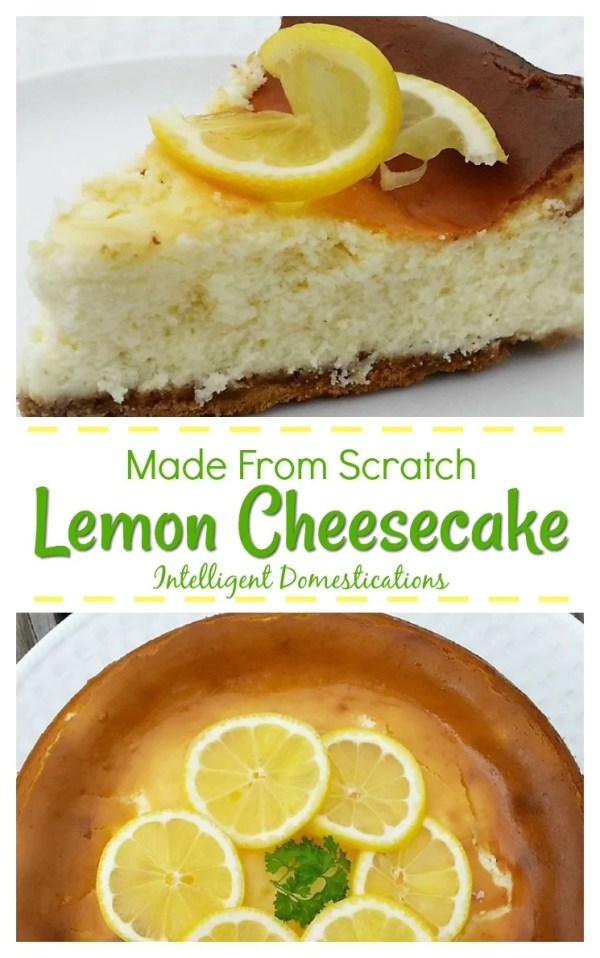 Homemade Lemon Cheesecake. Made from Scratch Lemon Cheesecake #cheesecake