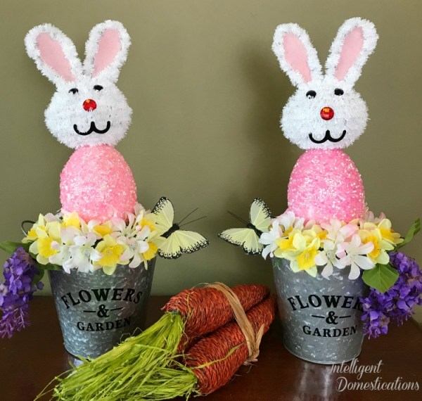 Home Craft Ideas Easter Bunny Flower Pot Craft Flower Pot: Whimsical Easter Bunny Flower Pail Decor