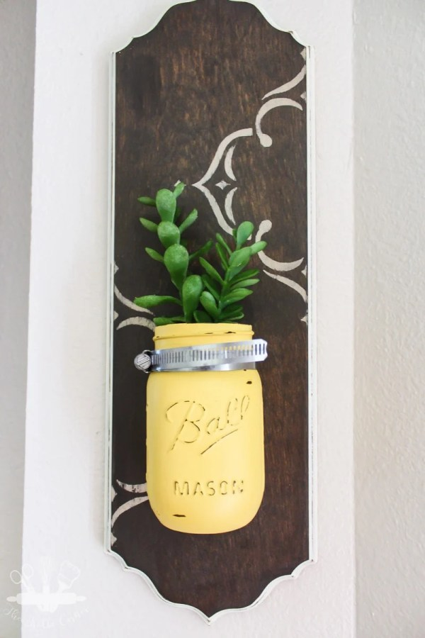 DIY Mason Jar Wall Vase