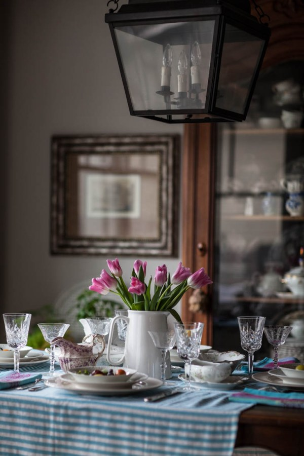 Elegant and Colorful Easter Table