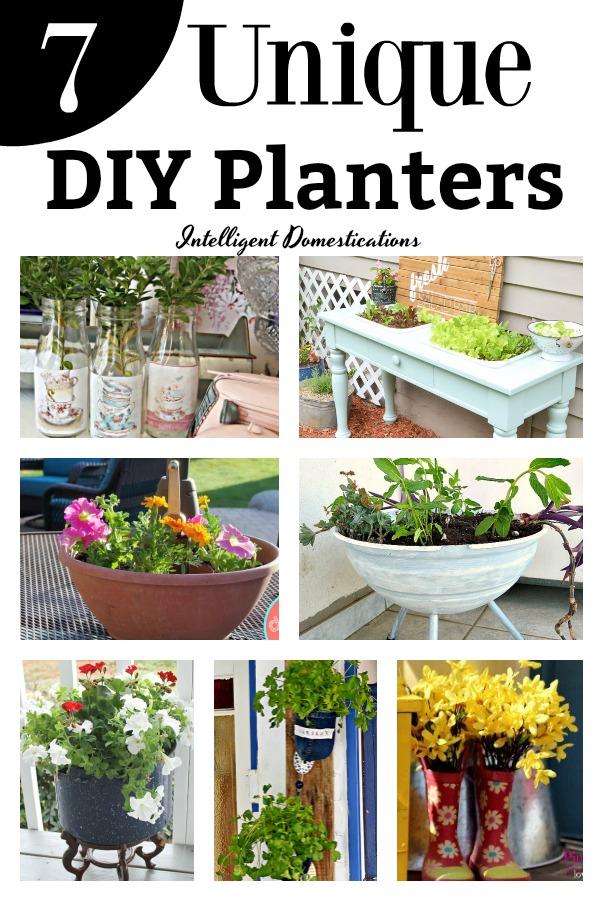 7 Unique DIY Planters. DIY Planters. 7 Creative DIY Planters to make #DIY #diyplanters