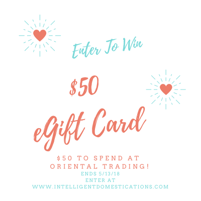 Enter To Win $50 Oriental Trading Gift Card