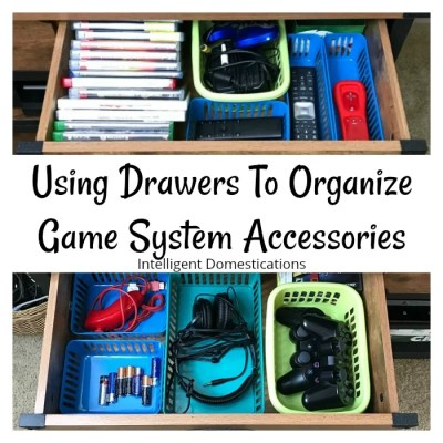 Using Drawers To Organize Game System Accessories