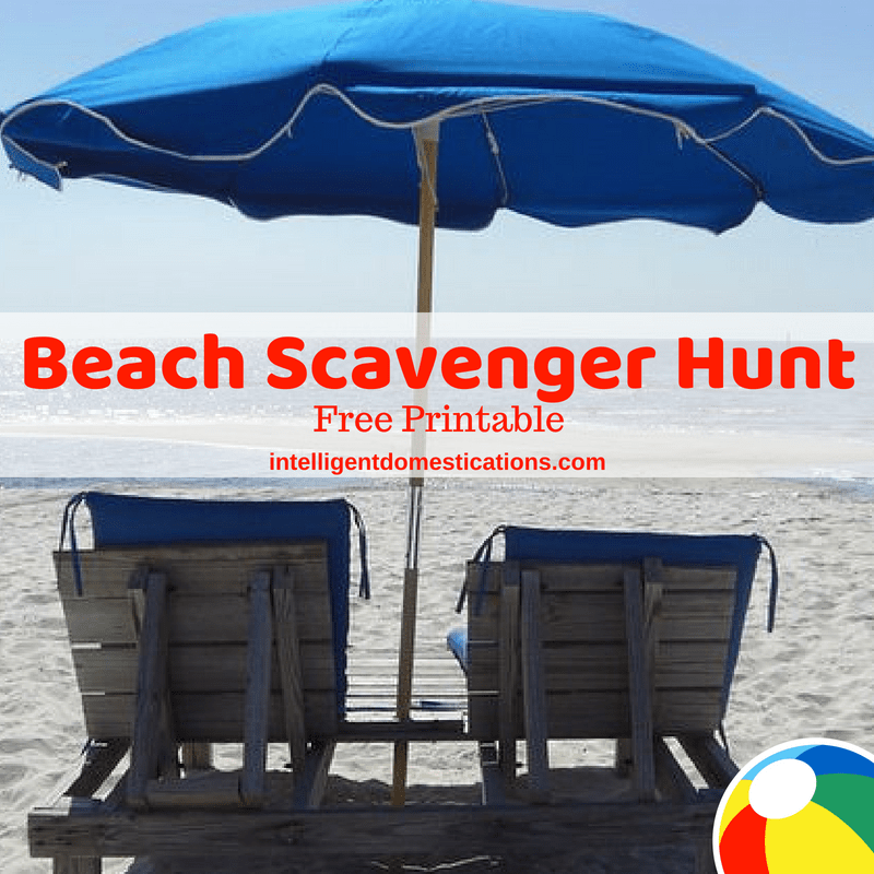 picture regarding Printable Beach Pictures titled Beach front Scavenger Hunt Free of charge Printable - Clever Domestications