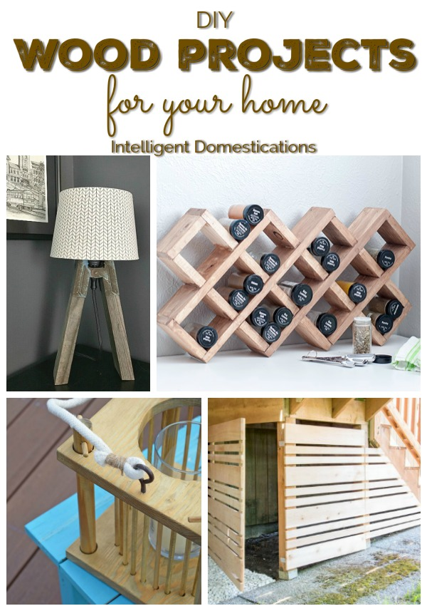 DIY Wood Projects for your home. Ideas for using scrap wood on home projects. Wood project ideas for around the house. #wood #diy #Woodprojectideas