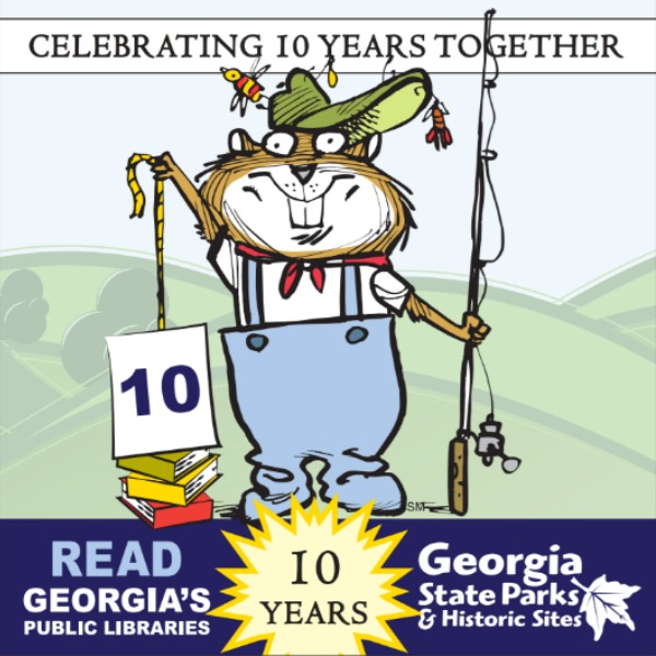 Ga. State Library Loan Program Perks. With a valid library card from a participating library system, patrons can check-out the Georgia State Park ParkPass which is good for free parking at 46 state parks, plus admission for up to four people at 17 state historic sites. Celebrating 10 years of Ga. State Parks and Public Libraries working together. #GaParksandLibraries