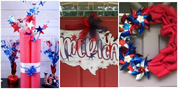 12 Creative Red White and Blue Decor Ideas to DIY for your home. Patriotic Decor. Make your own Red white and blue decor. #redwhiteandblue #Americana #DIYdecor #Patrioticdecor