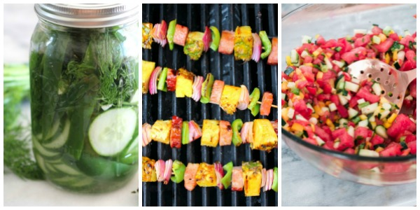 Summer Recipes using Fresh Fruits and Vegetables. Side Dishes and Entree recipes using fresh fruits and vegetables. Summer Recipes. Recipes using fresh vegetables. Farm to table recipes.#summerrecipes #farmtotable #cookingfromscratch