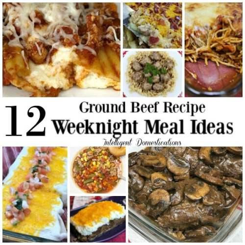12 Ground Beef Recipe Weeknight Meal Ideas. Recipes using ground beef. Weeknight dinner recipes using ground beef. #recipe #groundbeefrecipes #weeknightmealideas