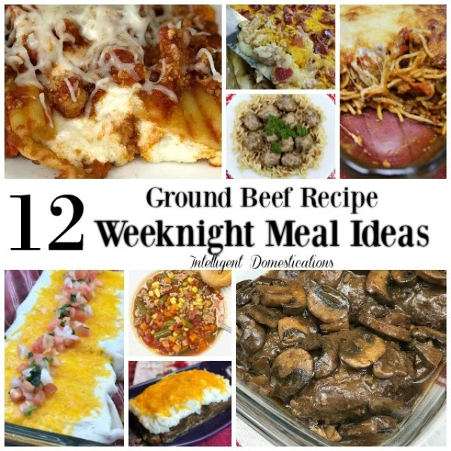 12 Ground Beef Recipe Weeknight Meal Ideas. Recipes using ground beef. Weeknight dinner recipes using ground beef. #recipe #groundbeefrecipes #weeknightmealideas