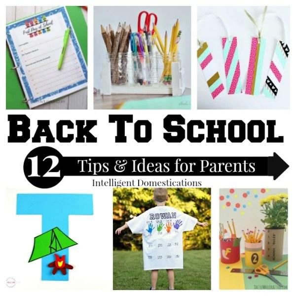Back To School Tips and Ideas. #backtoschool #homeschool #organization #diy