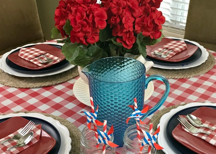 Red White & Blue Tablescape