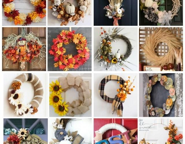 Fall Wreath Ideas. DIY Fall Wreath Ideas. #fall #DIY Wreath #DIY #wreath #fallwreath