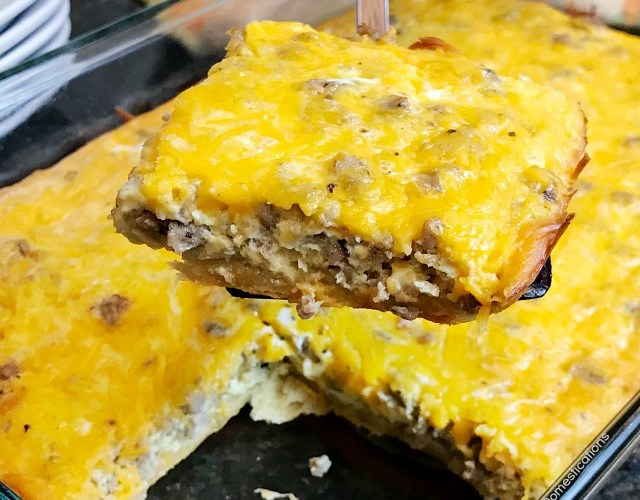 Crescent Roll & Sausage Breakfast Casserole