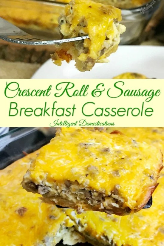 Breakfast Casserole Recipe. Cheesy Sausage Eggs and Crescent Rolls are the main ingredients is this lip smacking delicious overnight breakfast casserole. #crescentrollrecipe #breakfastbake #breakfastcasserole #Sausagecasserole #Christmasbreakfast #overnightcasserole #breakfast