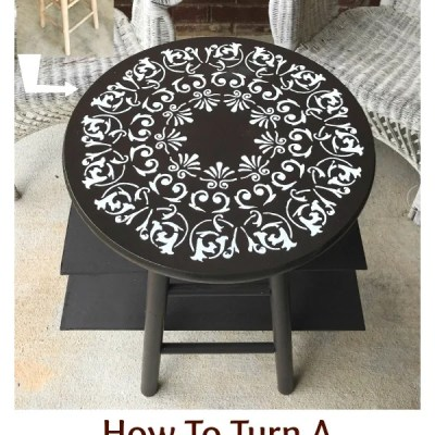 How To Turn A Stool Into A Side Table