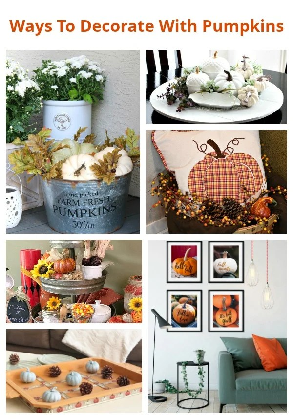 12 Creative Ways To Decorate with pumpkins this fall.