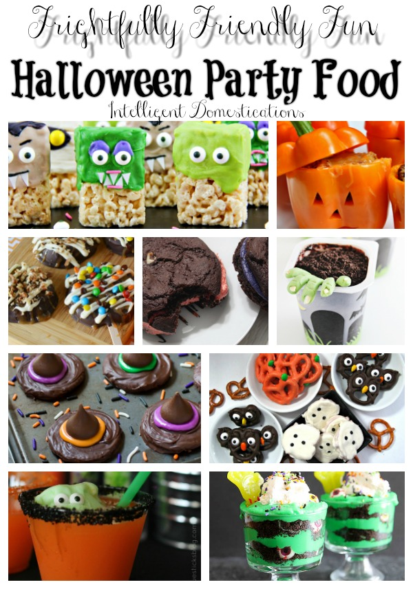 Halloween Party Food Ideas. Frightfully Friendly Fun Halloween Party Food Ideas complete with recipes and instructions. Some are cute and some are creepy but they are all perfect for your Halloween party menu! #halloween #halloweenparty #creepyfood #notsoscary #halloweenfood