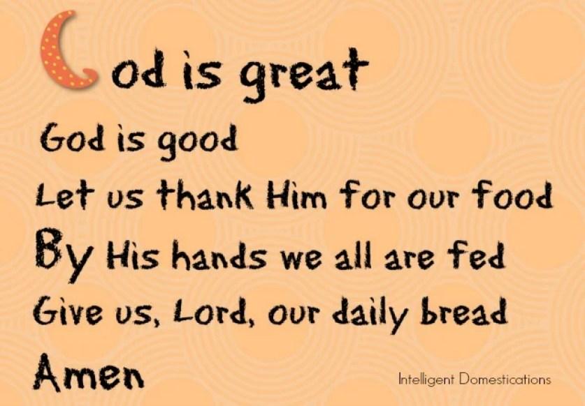a short mealtime prayer to teach children