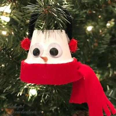 Mini Terracotta Pot Snowman Kids Craft
