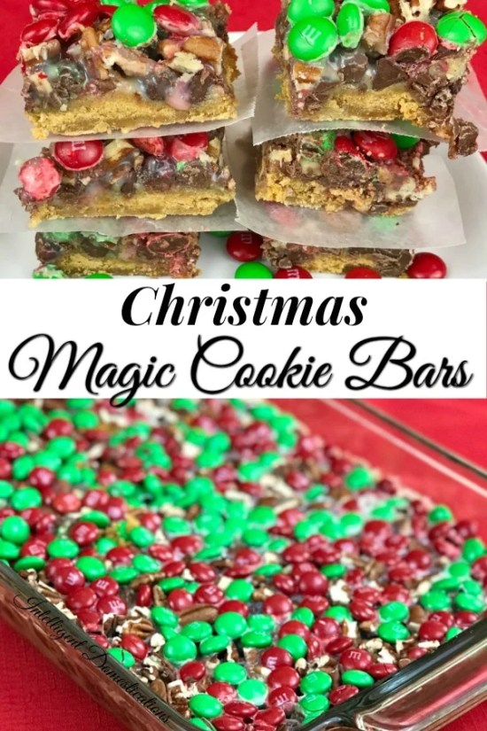 Christmas Magic Cookie Bars easy recipe. No mixer required. A classic Christmas dessert favorite easy to make and delicious to eat. #Christmasfood #christmas