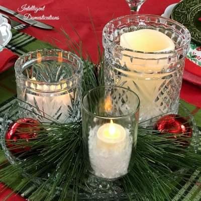 Glass Jar Kitchen Table Christmas Centerpiece