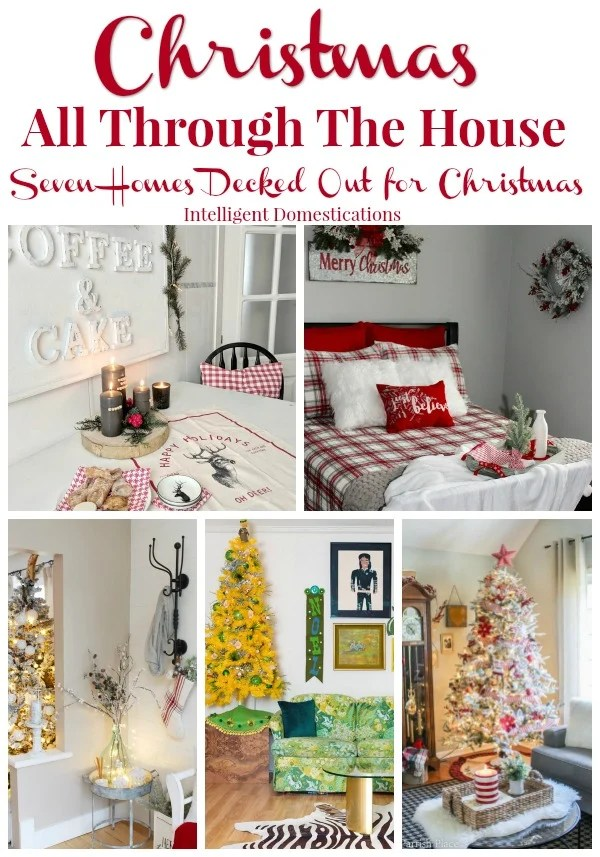 Visit these seven homes for Christmas decorating ideas all through the house. #Christmas