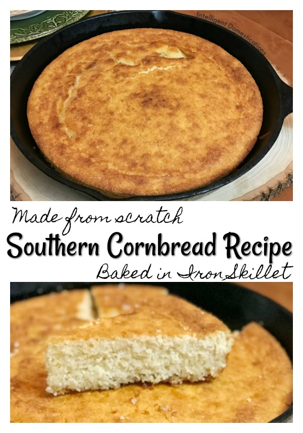 Southern Cornbread Recipe. Sweet Southern Cornbread easy recipe. How to make delicious Iron Skillet Cornbread. #cornbread #easyrecipe