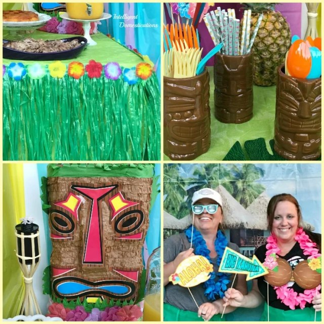 Tropical Backyard Luau Party Decorations. Where to buy party supplies.