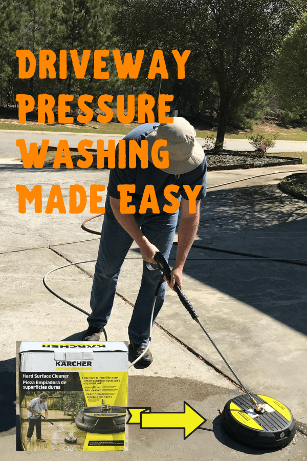 Easy Ways to Create Curb Appeal. Get this tool to make pressure washing your concrete an easier tasks. #curbappeal