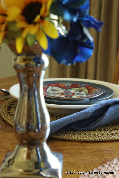 End of Summer Contemporary Tablescape
