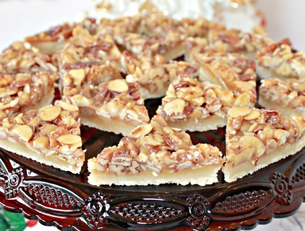 Triple Nut Bar Cookies