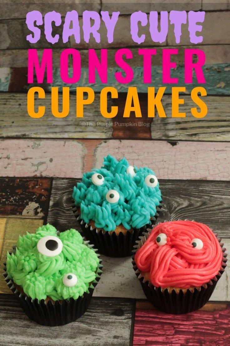 Scary-Cute Monster Cupcakes!