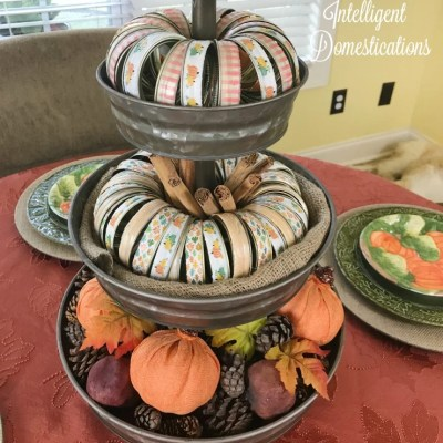 Make Your Own Mason Jar Ring Pumpkin Using Washi Tape