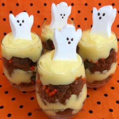 Halloween Brownie Parfaits