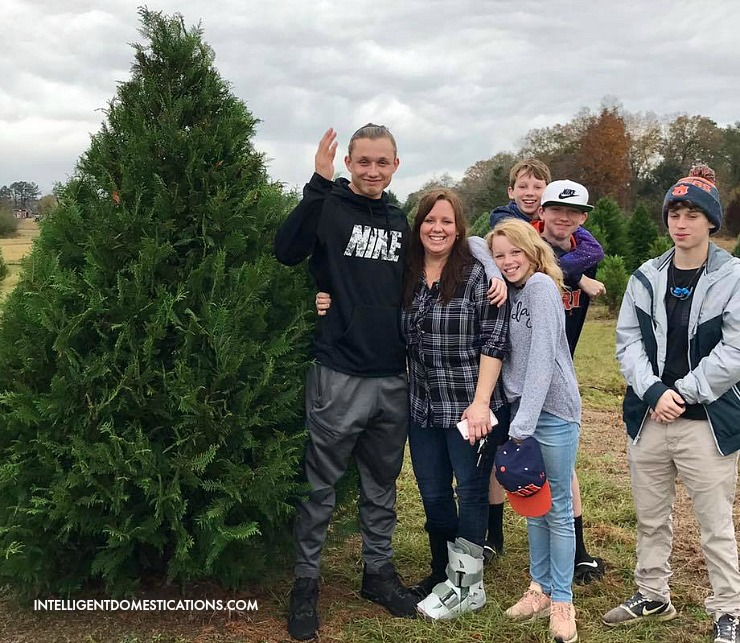 Christmas Tree Shopping 2019. We found the perfect tree. It didn't look that big when we picked it out!