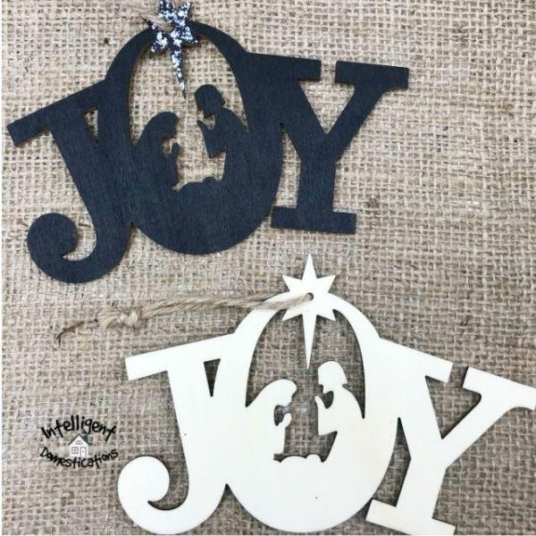 JOY Nativity Ornaments for the Christmas tree