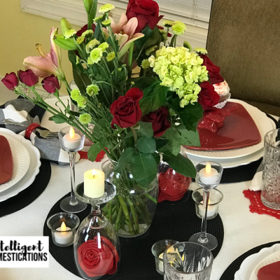 Simple Valentines Tablescape