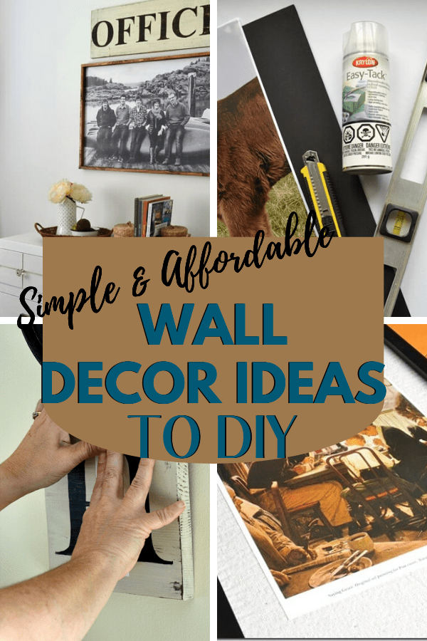 Six Simple and Affordable Wall Decor Ideas you can DIY in no time. Decorate your walls without spending a fortune. Minimal skills required to create beautiful home decor you can enjoy. #diywalldecor #DIYHome