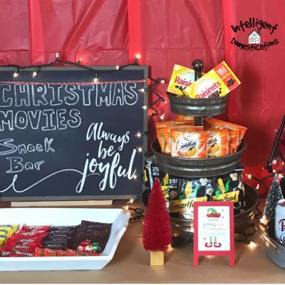 Make This Easy Family Christmas Movie Night Snack Bar
