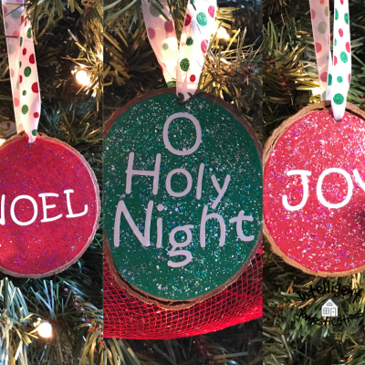 Easy Painted Wood Slice Ornaments In Bright Colors