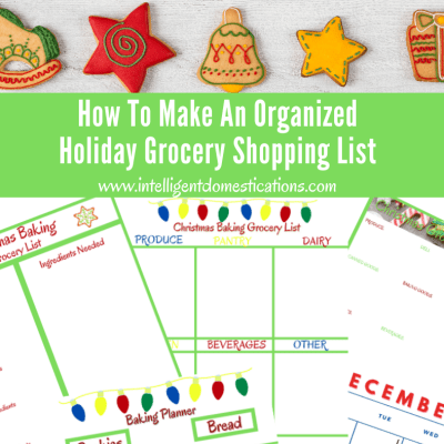 How To Make An Organized Holiday Grocery Shopping List