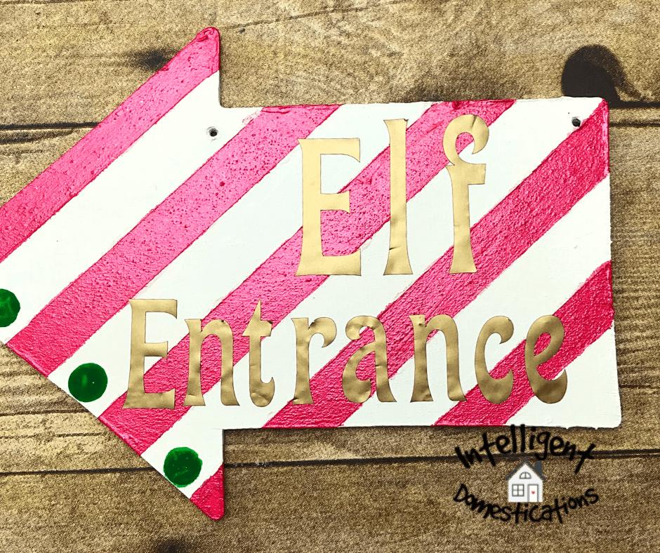 Elf Entrance sign ornament