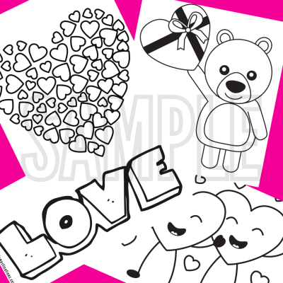 7 Valentine's Coloring Pages Free Printable