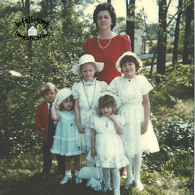 Grannie and grandkids on Easter