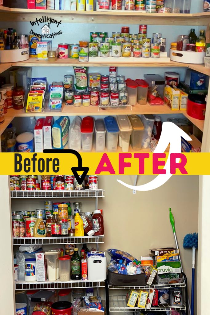Before and After Pantry Remodel pictures