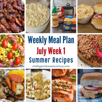 July Meal Plan Week 1